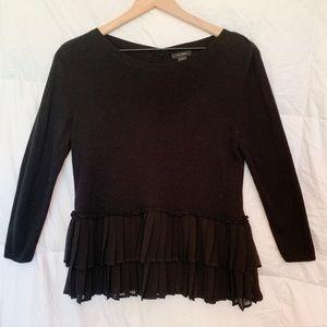 Halogen Black Long Sleeve Sweater